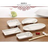 Wholesale Melamine Dishes Aparelho De Jantar New Arrival Dishes Plates Porcelain Dinner Trays For Food Bone Set For Restaurant