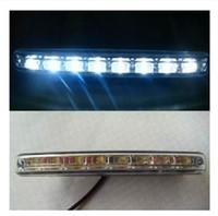 achat en gros de blanc lampes vente-Vente chaude 8 LED Universel de Voiture de Lumière DRL feux de Jour à la Tête de la Lampe Super Blanc 2pcs/lot livraison gratuite