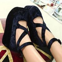 Wholesale New Japanese School Uniform Shoes Uwabaki Round Toe Platform Lolita Pricess Wedge Shoes Color New
