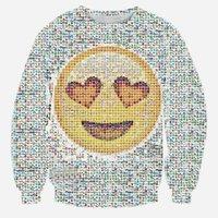 Emojis roupas Preços-W1213 Emoji Moletom Mulheres Hoody New 2015 Outono Desporto Suit Moda Womon Emoji Outfit Tracksuits Free Shipping