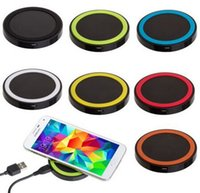 Wholesale New Q5 Qi Wireless Power Pad Charger F iPhone Samsung Galaxy S3 S4 S6 Millet
