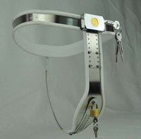Locking steel female chastity belt