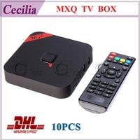 Wholesale 10pc Original MXQ Quad Core Andriod TV BOX MX XBMC Amlogic S805 GB GB Smart IPTV Media Player H Miracast DLNA Free DHL