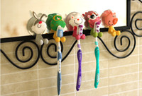 Wholesale YI YUAN Creative cute cartoon family toothbrush holder toothpaste powerful suction style optional DHL