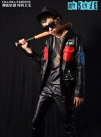 baseball ds - Fall New Nightclubs male singer DS DJ right Zhilong GD tassels stitching baseball leather jackets coats Mens Bars Fashion costumes