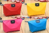 Wholesale Fashion Hot Folded Portable Dumpling Shaped Travel Make Up Cosmetic Pouch Toiletry Bag