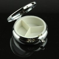 metal pill box - 100pcs Metal Pill boxes DIY Medicine Organizer container silver