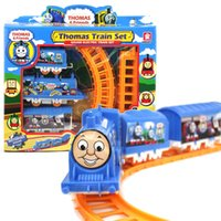 train toys - Thomas train track tomas electric train set Baby educational toys Small electric splicing rail train birthday gift Boy toys