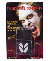 Wholesale 2 packs White Vampire Fangs Teeth Special Effects Dental Putty Costume Halloween NzHaR