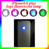 Wholesale iPhone6 plus logo fluorescent lamp for iphone LED cold light Fit Iphone iphone s In Stocked