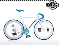 fixed gear - Fashion Aluminium alloy Complete Fixed Gear Bike White Frame cm with Colors Wheel X23C Avialable Can Ride Forwards