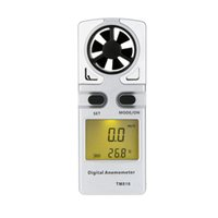 Wholesale New Hot m s Mini Pocket Digital Anemometer Wind Speed Meter Air Velocity Temperature Measuring Meter with LCD Display order lt no track
