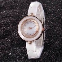 advance import - New hot luxury fashion classic personality precision imported advanced quartz movement waterproof ceramic watchband flow drilling Ladies Wat