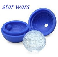 Wholesale 2015 New Death star wars Silicone Ice Tray Cube Mold Maker Ice ball Mould bar party freezing
