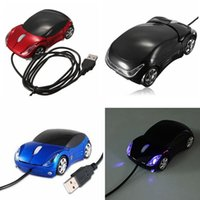 Wholesale 100 New USB D colorful Car Shape Optical mouse Mice for Laptop mix color youmyelectec1688