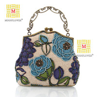 bag hand make - cheap handmade Luxurious designer handbags beading Evening Bags Shining Fashion Women Wallets foral hand made Wedding Party Handbags