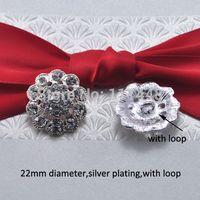 Wholesale S0164 mm diameter stunning rhinestone embellishment silver plating gun metal plating with loop or without loop