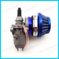 adapter air cleaner - Blue Air Filter Adapter Velocity Stack Carburetor Carb mm Air Filter Cleaner cc cc Mini ATV Quad Dirt Pocket Bike Cag order lt no