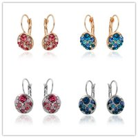 Wholesale 2015 New Drop Earrings Geometry Fashion Accessories Romantic Wedding Party Crystal Big Gold Earrings For Women Fine Jewelry E21