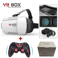 Wholesale Google cardboard VR BOX Version VR Virtual Reality Glasses Bluetooth Wireless Mouse Remote Control Gamepad with package