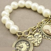 avatar fines - 2015 Sale Fine Jewelry Sterling Silver Jewelry Pulseira Classic Retro Pearl Bracelet Watches Women Love Wild Fashion Maria Avatar Hot Batch