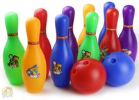 Wholesale plastic toys bowling Simulation educational toys girl boy ball indoor outdoor sports toys sets tuba bowling toys
