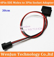 atx molex - 20PCS ATX PSU Pin IDE Molex to PC Cooling Fan Pin Socket Adapter V Power Supply Cable Cord AWG Wire order lt no track
