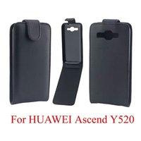 Nueva llegada cubierta del teléfono móvil de la piel para Huawei Estilo Moda Accesorios Teléfono cuero del tirón Estuches para Huawei Ascend Y520