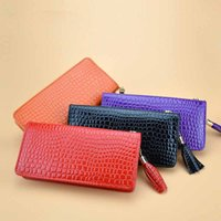 best purse organizers - 1 Piece Latest Women Wallet Fashion Accessories Simple Leather Stone Pattern Pearlite Layer Tassel Pendant Clutch Bag coin purse best gift