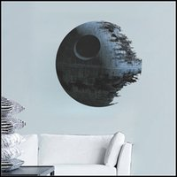 Wholesale 2015 star wars wall stickers Death Star D wallpapers wall decals children removable novelty wallpaper for kids room J071601
