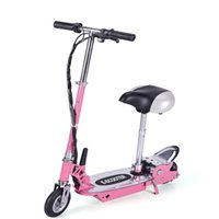 kick scooter - Steel Kids Electric Ride On Bike Scooter with Seats v Batt Pink Kick Scooters Domestic UK Shipping