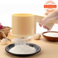 baking sifter - Patisserie One handed Flour Sifter Farina Strainer Bakeware Food Grade PP Pastry Baking Kitchen Tools
