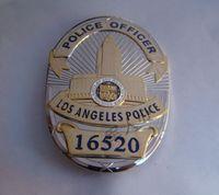 Wholesale American metal badge Losangeles badge LAPD badge badge number copper