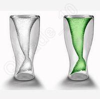 bar coffee drinks - 100PCS LLA46 Creative Crystal Mermaid Glass Mug Cup Novelty Vodka Shot Drinking Bar Party Cup Coffee Cup