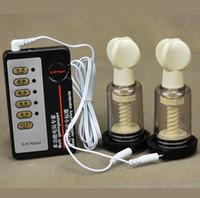 Wholesale BDSM Breast Clitoris Stimulation Electric Shock Sex Toys Female Masturbation Orgasm Machine Vacuum Sucker Electric Pump