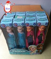 baby soft toys wholesale - Hot Sale Frozen Elsa Anna Princess Dolls Figure Toys cm with Nice retail box package Baby Children toys Empress Elsa