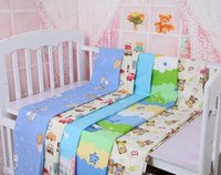 baby bedsheets - 5 Pi eces New Baby Cotton Bed Sheets Children Crib Sheets Colors Soft Cotton Bedsheets Cot Sheets