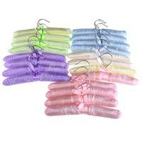 Wholesale 20X Romantic Bowknot Satin Padded Clothes Coat Clothing Dress Hook Hanger K5BO