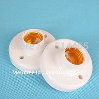 Wholesale 10pcs E27 Round Plastic Light Bulb Lamp Socket Bases White lampholder