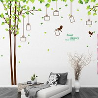 abstract art photos - Tree photo frame wall sticker DIY decorative vinyl decals removable poster frame creative pastoral transparent PVC