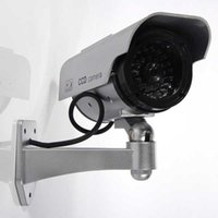 Wholesale Outdoor Fake Dummy Security Camera With Blinking Light Silver New