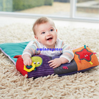 baby practice - Folding baby Infant head pillow blankets baby travel neck pillow baby Climbing Crawl practice exercises Kids Musical Toys