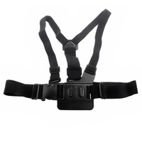 Wholesale Adjustable Durable Body Harness Chest Belt Strap Adapter Mount for Gopro Hero SJ4000 Camera Black