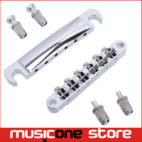 Wholesale A Set Chrome String saddle Tune O Matic Bridge Tailpiece For GB LP Style Electric Guitar MU0458