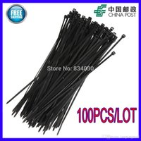 Wholesale 100pcs mm x mm Heavy Duty Plastic Nylon Cable Zip Tie Black tracking number A5