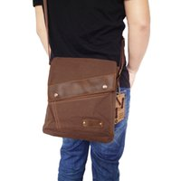 Wholesale Hot Sale Brand Vintage Canvas Leather Bags for Men Messenger Satchel small Shoulder Bags Casual Crossbody cross body bags men s
