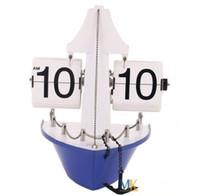 alarm clock shopping - Brand Metal Shop Truck Boat Flip Clock Retro Art Decorative with pothook HY F031