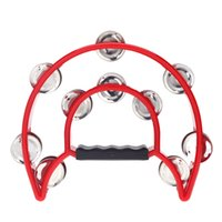 musical instruments professional - Professional Musical Instrument Hand Held Tambourine Bell Double for KTV Party Kids Games I459