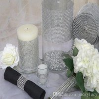yard decorations for christmas - 10 Yards Per Roll Rows Diamond Mesh Rhinestone Wrap Shiny Crystal Ribbon For Wedding Centerpieces Party Supplies Decoration