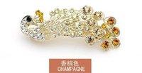 Cheap Edge clip accessories Best Diamond hair peacock female hair clips
